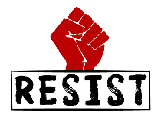 Resist with red fist